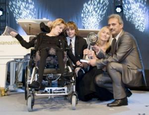Anita Lechner mit ihren Kindern Claudia und Alessandro